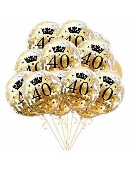 ballon âge happy birthday age fête party anniversaire balloon gold confettis tahiti fenua shopping