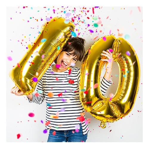 ballon chiffre gold number doré anniversaire fête birthday party tahiti fenua shopping