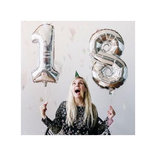 ballon chiffre silver argenté argent xxl géant anniversaire birthday party fête tahiti fenua shopping