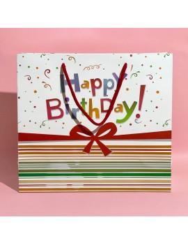 sachet cadeau happy birthday red rouge fête party gift bag tahiti fenua shopping
