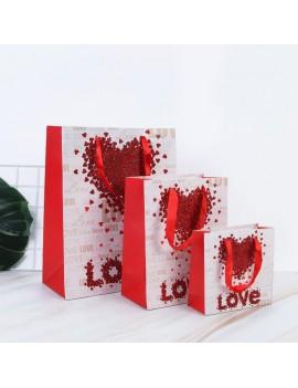 sachet cadeau red love rouge amour gift bag tahiti fenua shopping