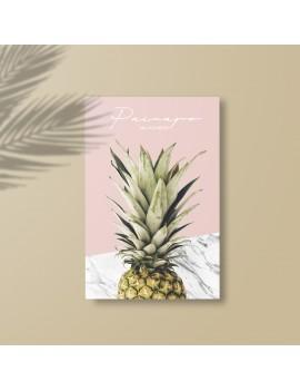 toile A2 painapo ananas pineapple marble marbrée marbre déco maison home tahiti fenua shopping