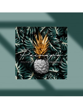 toile carré painapo pineapple ananas déco maison home tahiti fenua shopping