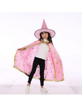 tenue mage sorcière magicien cape chapeau étoile bleu rose halloween costume déguisement fête party tahiti fenua shopping