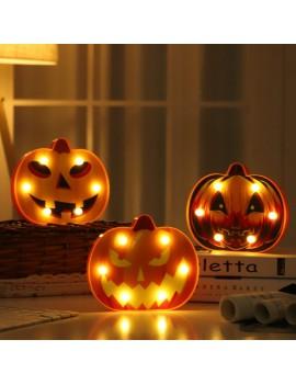 lampe led citrouille pumpkin orange lanterne lumiere light déco tahiti fenua shopping