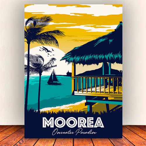 toile vintage moorea