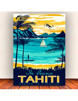 toile vintage tahiti